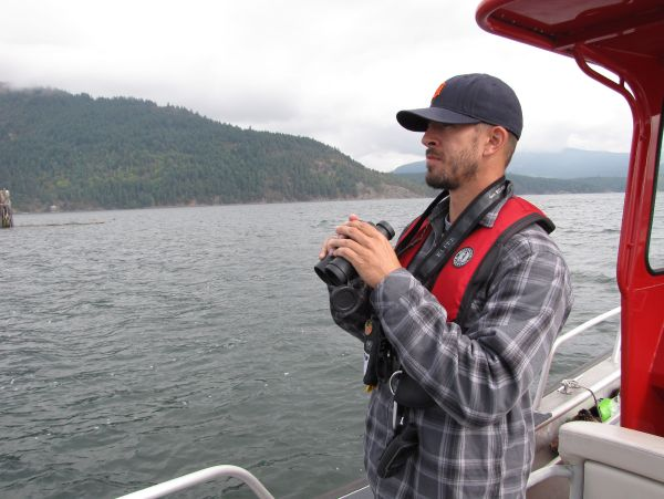 Ben Nelson looks for seal haul-out sites