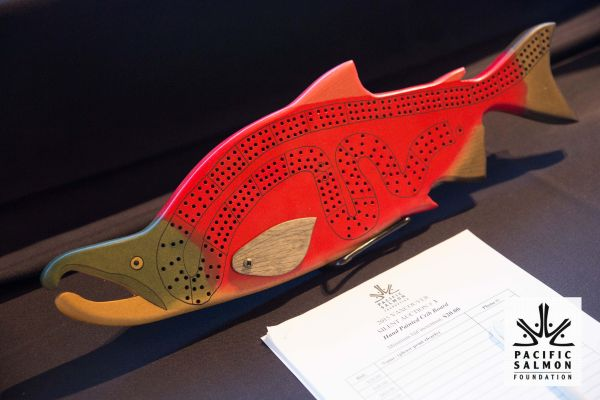 HandCarved Salmon Crib Board Silent Auction Item