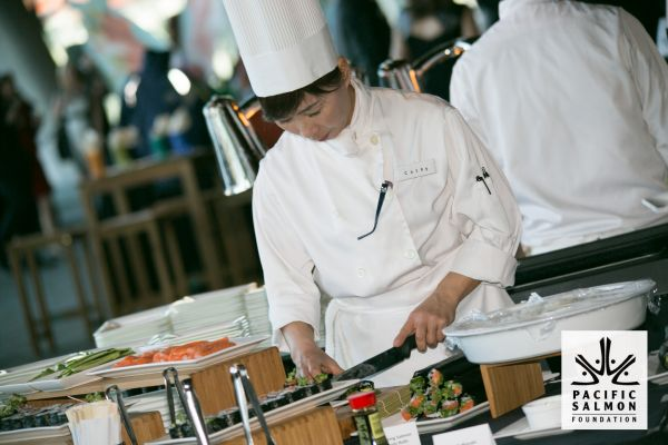 Sushi Chef at Vancouver Salmon Fundraiser