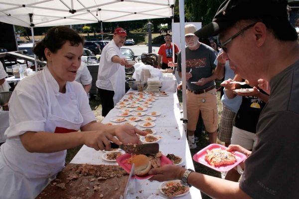 Pink Salmon Festival barbeque
